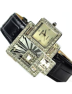 XXl Damenuhr Armbanduhr in Silbe