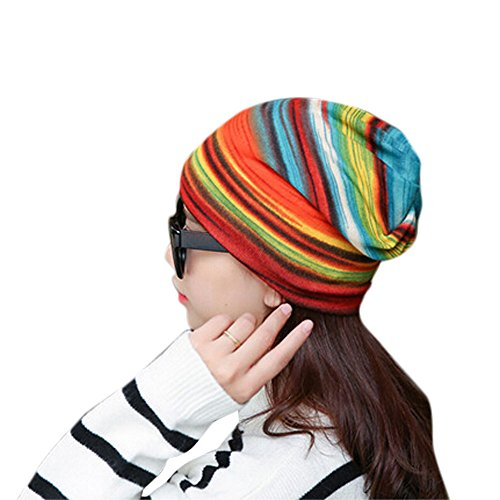 Unisex Fashion Stretchy Stripe Turban Head Wrap | Hat Pleated Caps Bonnet...