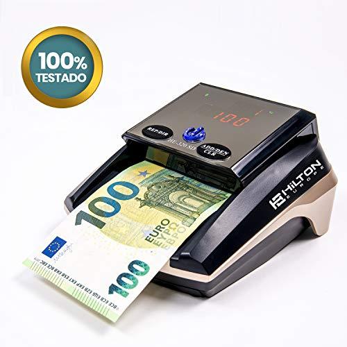 HILTON EUROPE HE-320B SD Detector Billetes Falsos sin batería 8 SISTEMAS DE DETECCION Actualizable...