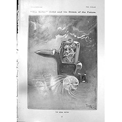 Impresión Antigua de las Hermanas Aéreas 1905 de Ney del Vestido de Bola de Pipotelle del Motor del Sueño del Artista de Tatler