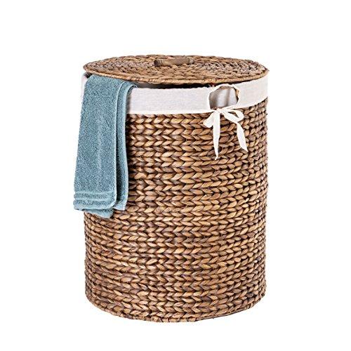 Casa Mina Wäschekorb Wäschebox Wäschesammler aus Wasserhyazinthe Manila Braun 45cm