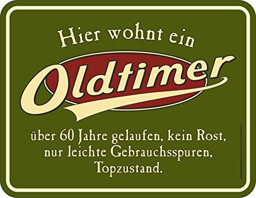 lechschild zum 60. Geburtstag: Oldtimer, 60 Jahre gelaufen, Topzustand. ()