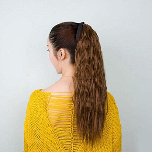 Longless Perücke Pferdeschwanz Birne roll Zopf Perücke weiblichen Bundle langes lockiges kurzes Haar roll (Das Joker Kostüm Ziel)