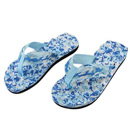 Amlaiworld Frauen Sommer Flip Flops Schuhe Sandalen Slipper innen & Outdoor Flip Flops (40, blau)