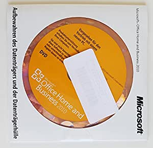 Microsoft Office 2010 Home and Business 32/64 Bit, OEM mit Datenträger, Deutsch