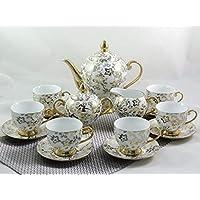 "15-tlg Porzellan Teeservice Kaffeeservice ""Goldserie"""