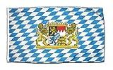 Flaggenfritze® Fahne Flagge Deutschland Bayern mit Löwe 30 x 45 cm