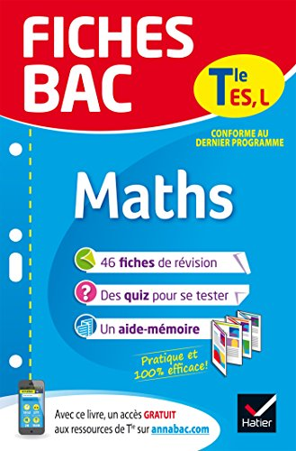 Fiches bac Maths Tle ES, L: fiches de révision Terminale ES, L par Laurent Darré
