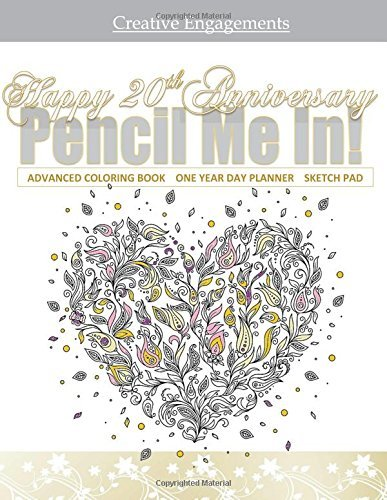 Happy 20th Anniversary: 20th Anniversary Adult Coloring Book Gift; 20th Anniversary Gifts in al; 20th Anniversary Party Supplies in al; 20th ... 20th Anniversary Gifts for the Couple in al by The Quilted Garden Shoppe (2016-01-27)