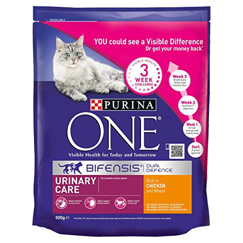 Purina One Urinary Care Dry Cat Food Chicken 800 g - Case of 4 (3.2kg)