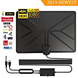 [2019 Newest] TV Aerial, Digital HDTV Antenna 80+ Mile Range for Digital Freeview