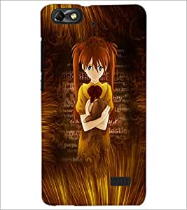PrintDhaba Cute Girl D-4594 Back Case Cover for HUAWEI HONOR 4C (Multi-Coloured)
