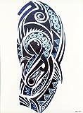 MÄNNER TRIBAL TATTOO DUNKEL BLAU wx097 Oberarm Tattoo Aufkleber Maori