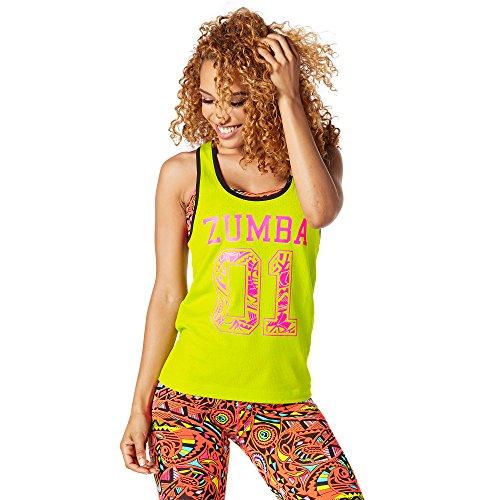 Zumba Fitness Damen Team Zumba Tank Frauentops, Zumba Green, S (Dance Team-t-shirts)