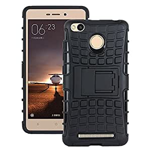 Lively Kick Stand Back Cover For Xiaomi Redmi 3s prime