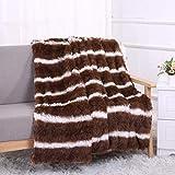 DaoAG-Bedroom 51.2 X63.0'' Super Soft Shaggy Flannel Throw Blanket Warm Lightweight Flannel Blankets Soft.