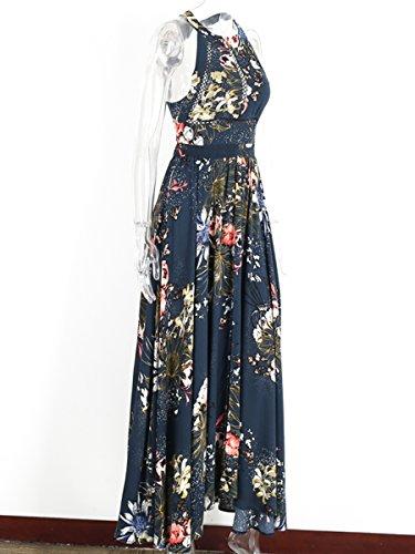 Simplee Apparel - Robe - Dos nu - Femme Bleu Marine