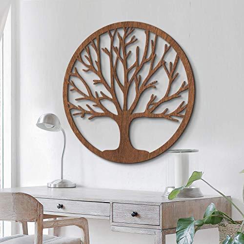 Wall-Art Décoration en bois d'acajou et placage en bois...