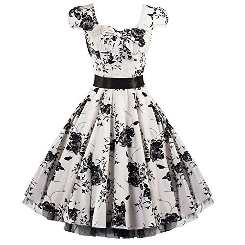 Blumen Cocktailkleid - Pretty Kitty Fashion 50s thumbnail