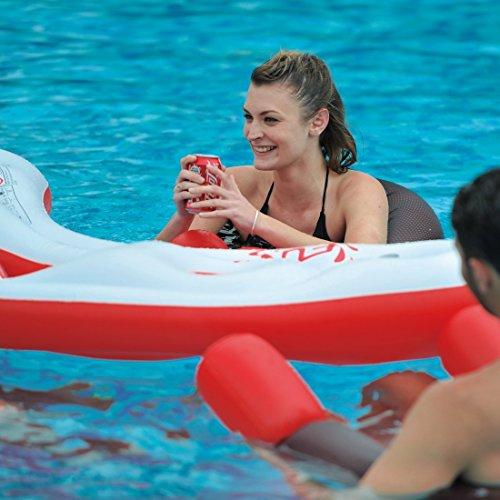 Jilong Fashio Pool Bar Set mit 4x Schwimmsessel Poolsessel Poolnudel mit Meshsitz + schwimmender Tisch mit 4 Getränkehalter und Eisfach Getränkefach - 2
