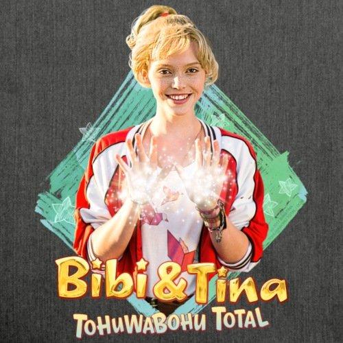 Spreadshirt Bibi Und TinaTohuwabohu Total Hex Hex Schultertasche aus Recycling-Material Schwarz Meliert