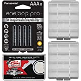 Panasonic Eneloop Pro (8) AAA 950mAh Pre-Charged NiMH Rechargeable Batteries With Battery Case Kit