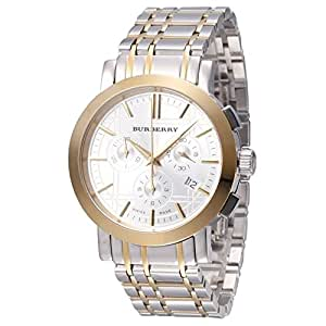Two Tone Stainless Steel Case and Bracelet White Dial Chronograph