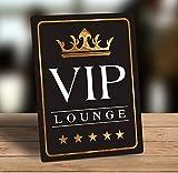 PotteLove Dekoratives Metallschild zum Aufhängen, freistehend, Zitat VIP Lounge, 30,5 x 45,7 cm