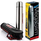 #10: Varshine Mega Slim Lifestyle Stainless Steel Flask, 1000ml with bag Hot & Cold SF-301