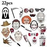 Zoylink 22 STÜCKE Halloween Foto Lustige Verschiedene Stile DIY Party Foto Prop Kit