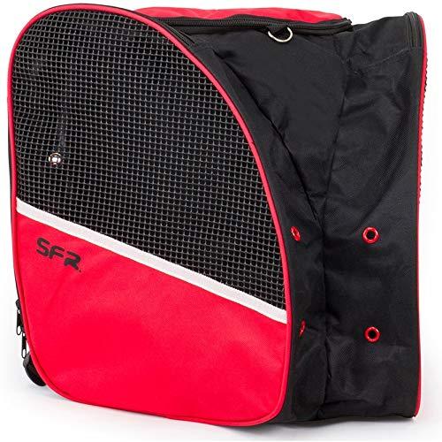 SFR Skate Backpack für Rollschuhe und Schlittschuhe schwarz-rot schwarz-rot, Standard -