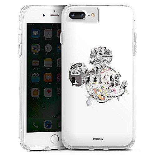 Apple iPhone 6 Bumper Hülle Bumper Case Glitzer Hülle Disney Mickey Mouse Merchandise Geschenke Bumper Case transparent