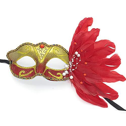Yazilind Venezianische Venetianische Maske mit Zirkonia und Blume -