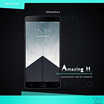 Nillkin 9H Hardness Tempered Glass Screen Protector for OnePlus Two - Retail Packaging - Transparent