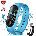 LIGE Activity Tracker, Fitness Trackers Pedometer Smart Watch, Fitness Watch Sports Bracelet with Heart rate monitor Sleep monitoring Calorie Counter,Smart bracelet for Men Women Kids +gift by LIGE