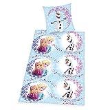 Herding 448050050412 Bettwäsche Walt Disney's Die Eiskönigin, Kopfkissenbezug: 80 x 80 cm und Bettbezug: 135 x 200 cm, 100% Baumwolle, Renforce