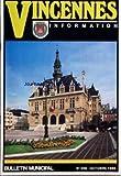 VINCENNES INFORMATION [No 396] du 01/10/1986 - INFORMATIONS SPORTIVES - BONS RESULTATS AU CERCLE D'ESCRIME DE VINCENNES L'ECOLE DE FOOTBALL DU C.O. VINCENNES A L'HONNEUR....