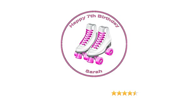 24 PERSONALISED ROLLER SKATES DESIGN EDIBLE RICE PAPER CUP CAKE TOPPERS Home, Furniture & DIY