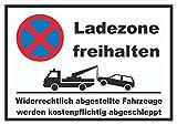 HB_Druck Parken verboten Ladezone freihalten Schild A6 Rückseite Selbstklebend