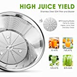 Aicok Centrifuga Frutta, Estrattore di Succo, Centrifuga per Frutta e Verdura con Quick Clean Pulisci Spazzola, 400W, Acciaio Inox, Nero