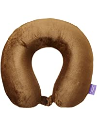 Viaggi Brown Memory Foam Travel Neck Pillow