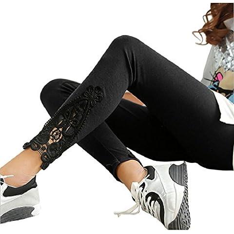 Malloom® Donna Calzamaglia Elastico Pantaloni Cotone Pantaloni a vita alta Donna Leggings