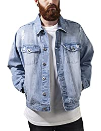 Urban Classics Herren Jacke Ripped Denim Jacket