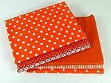 Stoffpaket Patchwork Baumwolle Orange 6 x 50 x 30 cm