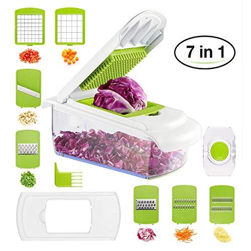 Pflanzliche Cutter, Messer, Gemüse, Kartoffeln Multislicer Küche Cutter, 71, Schleifer Und Limiter Für Obst Und Gemüse Slicer Würfel, Cd, Reibung, Messer Aus Nichtrostendem Stahl,Grüne