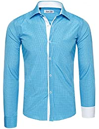 Lorenzo Loren - Camisa Casual - con Botones - para Hombre 8f20a679094