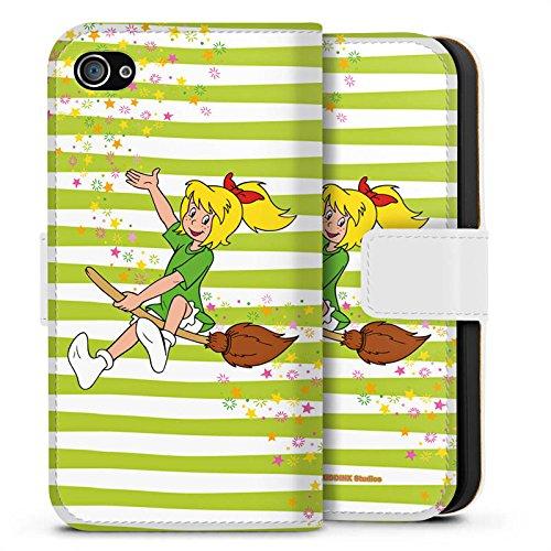 Apple iPhone X Silikon Hülle Case Schutzhülle Bibi Blocksberg Fanartikel Merchandise Bibi und Kartoffelbrei Sideflip Tasche weiß