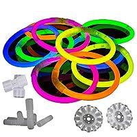 100 Pack Premium Glowhouse Glow Stick Bracelets (Mixed)