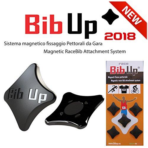BIBUP 2018 -- 5 Coppie Sistema Magnetico Fissaggio Pettorali da Gara