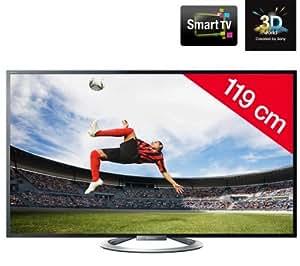SONY KDL-47W805A - Téléviseur LED 3D Smart TV + Kit n°1 - Support mural fixe + câble HDMI
